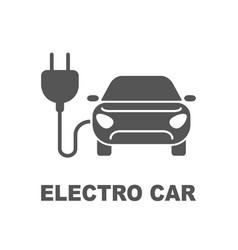 Electro car icon logo element vector