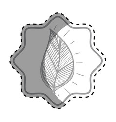 Emblem rustic leaf decoration design vector