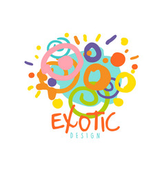 Exotic logo design template tour operator vector