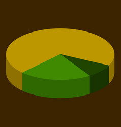flat icon on theme arabic business pie chart vector image