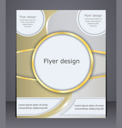 flyer design in soft shades yellow vector image