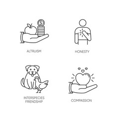 Friendly support pixel perfect linear icons set vector