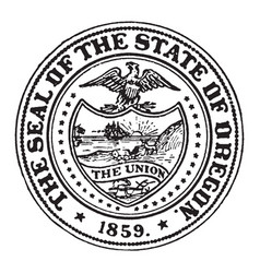 great seal state oregon vintage vector image