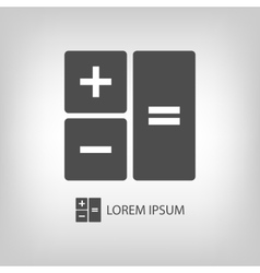Grey calculator vector image