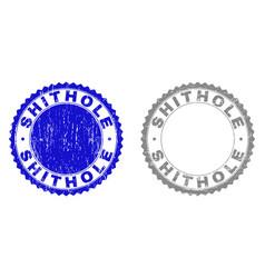 Grunge shithole textured stamp seals vector