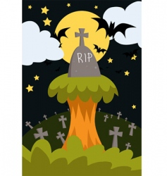 Halloween poster vector image vector image