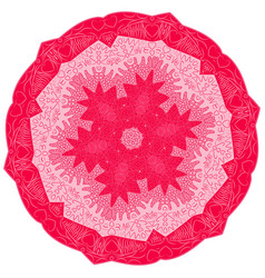 hand drawn doodle mandala hearts vector image