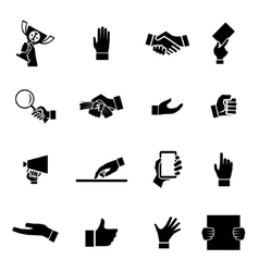 Hands Icons and Symbol Design Template vector image