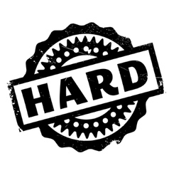 Hard rubber stamp vector