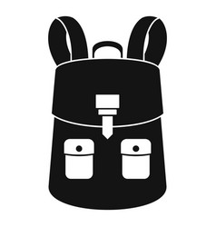 haversack icon simple style vector image