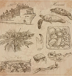 Hawaii - Travel An hand drawn vector