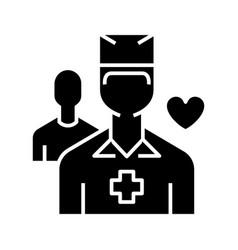 Health worker black icon concept vector