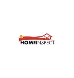 home inspection logo design vector image