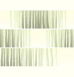 horizontal banner with many tree trunks vector image