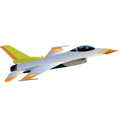 Jet fighter plane vector