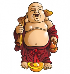 laughing buddha vector image