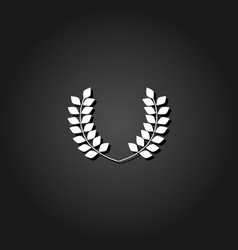 laurel wreaths icon flat vector image