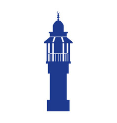 lighthouse isolated symbol vector image