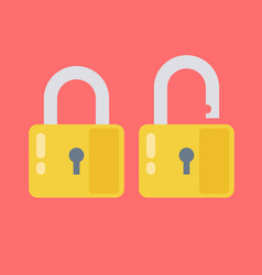 lock open and lock closed concept password vector image
