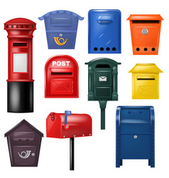 Mail box post mailbox postal mailing vector