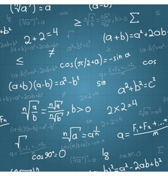 Mathematical formulas seamless pattern on vector image