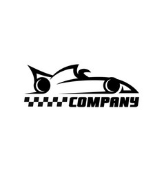 modern racing balid logo vector image