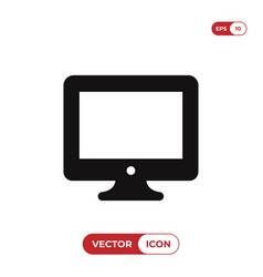monitor icon isolated on white background modern vector image