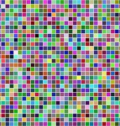 Multicolor square pixel mosaic background vector