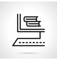 Online bookstore black line design icon vector