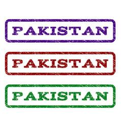 pakistan watermark stamp vector image