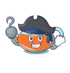 Pirate transparent teapot character cartoon vector