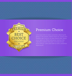 premium choice best exclusive quality stamp label vector image