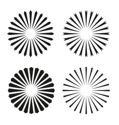 Rays beams element sunburst starburst shape vector