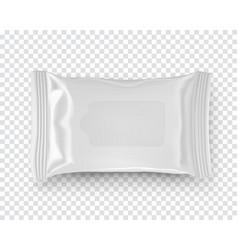 Realistic mockup wet wipe flow pack vector