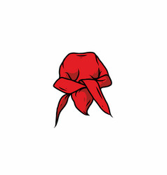 Red color durag drawing vector