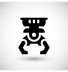 Robotic claw icon vector