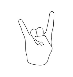 rock hand icon vector image