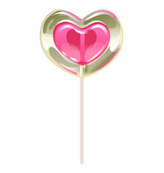 romantic lollipop in the shape of a heart vector image