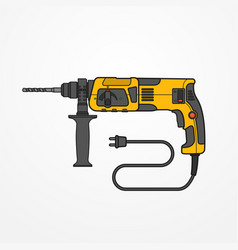 Rotary hammer image vector