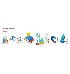 science lab and school class education vector image