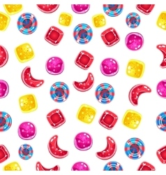 Seamless background with colorful candies on a vector image