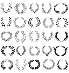 Set of 25 wreaths vector