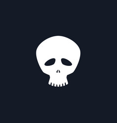 silhouette funny skull vector image