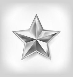 Silver star of five points design vector