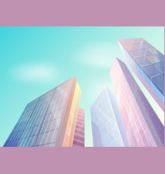 skyscraper building in city space in flat style vector image
