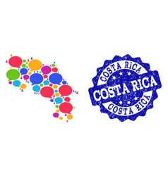 Social network map of costa rica with speech vector