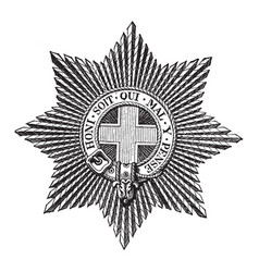 Star of the order of the garter is worn on the vector