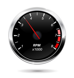 Tachometer car dashboard gauge vector