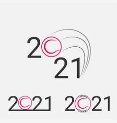 tennis sign 2021 set logo for a vector image