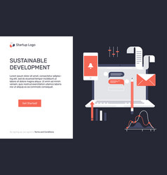 The concept for sustainable development vector